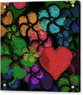 Heart In Flowers Acrylic Print