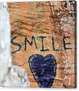 Heart In Sandstone Mountain Acrylic Print