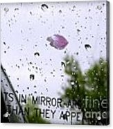 Heart In The Rearview Mirror Acrylic Print