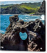 Heart In The Rock Acrylic Print