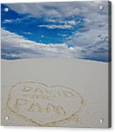 Heart In The Sand Acrylic Print