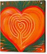 Heart Labyrinth Acrylic Print