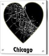 Heart Map Chicago Acrylic Print
