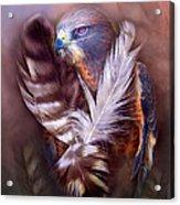 Heart Of A Hawk Acrylic Print by Carol Cavalaris