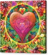 Heart Of Flowers Acrylic Print