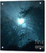 Heart Of Light On A Foggy Night Sky Acrylic Print