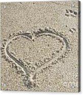 Heart Of Sand Acrylic Print