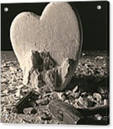 Heart Of Stone C1978 Acrylic Print by Paul Ashby