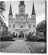 Heart Of The French Quarter Monochrome Acrylic Print