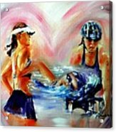 Heart Of The Triathlete Acrylic Print