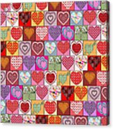 Heart Patches Acrylic Print