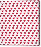 Heart Patterns Acrylic Print