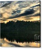 Heart Pond Sunset Acrylic Print