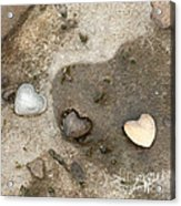 Heart Rock Love Acrylic Print by Artist and Photographer Laura Wrede