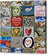 Heart Shape Collage  Acrylic Print