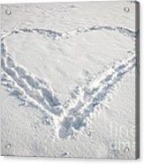 Heart Shape In Snow Acrylic Print