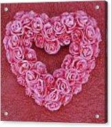 Heart-shaped Floral Arrangement Acrylic Print