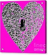 Heart Shaped Lock - Pink Acrylic Print