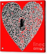 Heart Shaped Lock - Red Acrylic Print