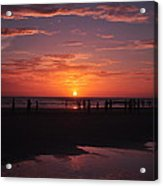 Heart Shaped Sunset In Brazil Acrylic Print