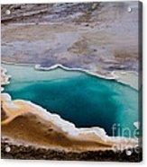 Heart Spring Yellowstone National Park Acrylic Print