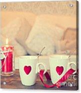 Heart Teacups Acrylic Print