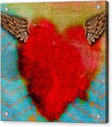 Heart Wings Acrylic Print