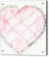 Heartful Of Thanks Acrylic Print