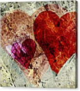 Hearts 10 Square Acrylic Print
