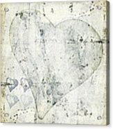 Hearts 13 Square Acrylic Print