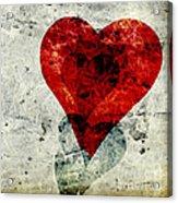 Hearts 3 Square Acrylic Print