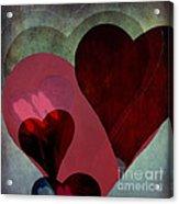 Hearts 9 Square Acrylic Print