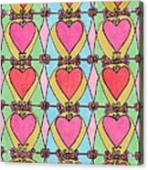 Hearts A'la Stained Glass Acrylic Print