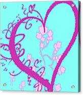 Hearts And Vines Acrylic Print
