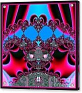 Hearts Ballet Curtain Call Fractal 121 Acrylic Print by Rose Santuci-Sofranko