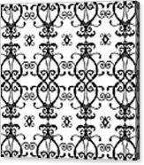 Hearts Black And White Acrylic Print