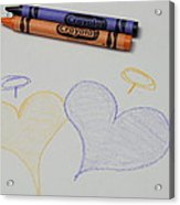 Hearts Crayola Crayons Artwork Acrylic Print