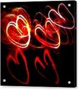 Hearts In Color Acrylic Print