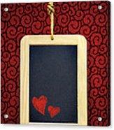 Hearts In Slate Acrylic Print