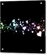 Hearts In Space Acrylic Print