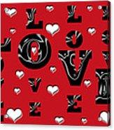 Hearts Of Love Acrylic Print