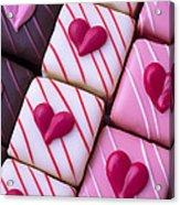 Hearts On Candy Acrylic Print