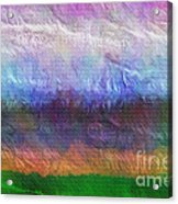 Heaven And Earth Mixed Media Painting Acrylic Print