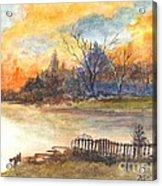 The Serene Sunset Acrylic Print