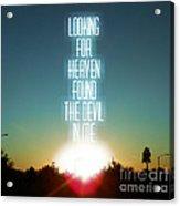 Heaven Acrylic Print by Jennifer Kimberly