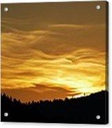 Heavenly Gold Sunset Acrylic Print
