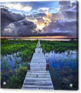 Heavenly Harbor Acrylic Print by Debra and Dave Vanderlaan