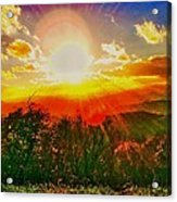 Heavenly Light. North Carolina Blue Ridge Acrylic Print