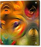 Heaven's Eyes - Abstract Art By Sharon Cummings Acrylic Print