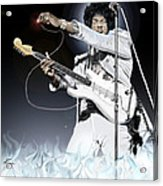Heavens Fire - The Jimi Hendrix Series  Acrylic Print
